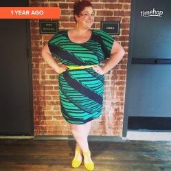 Dress from Ross, Isaac Mizrahi sandals, WalMart belt, Burlington Coat Factory earrings
