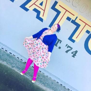 Dress: Lindy Bop, Tights: We Love Colors, Shoes: Amazon