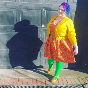 Cardigan: ModCloth, Dress: ModCloth, Tights: We Love Colors, Shoes: ModCloth, Belt: Amazon