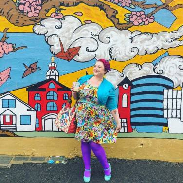 Dress: ModCloth, Tights: We Love Colors, Shoes: Amazon, Purse: Irregular Choice